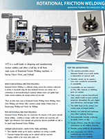 Rotational Friction Welding Flyer